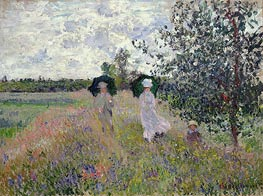 Promenade near Argenteuil, c.1873/75 by Monet | Giclée Canvas Print