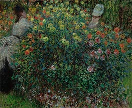 Monet | Women Amidst Flowers, 1875 | Giclée Canvas Print