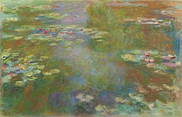 Monet | Water Lily Pond, c.1917/19 | Giclée Canvas Print