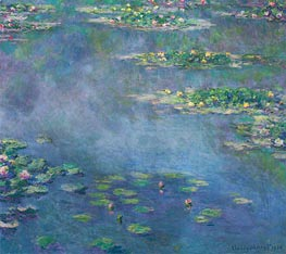 Monet | Water Lilies, 1906 | Giclée Canvas Print