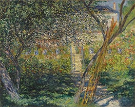 Monet | The Garden of Vétheuil, 1881 | Giclée Canvas Print
