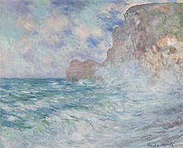 Monet | Etretat, Cliff and Upstream Gate, 1883 | Giclée Canvas Print