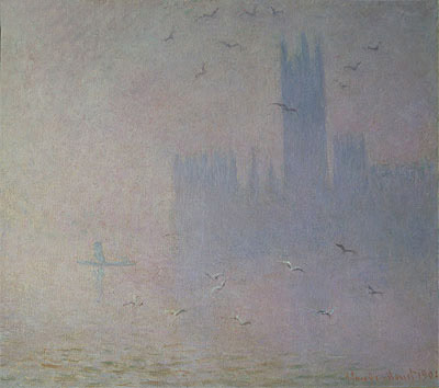 Houses of Parliament, Seagulls, 1904 | Monet | Painting Reproduction