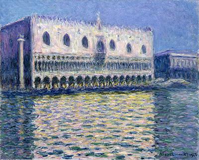 The Doge's Palace (Le Palais ducal), 1908 | Monet | Painting Reproduction