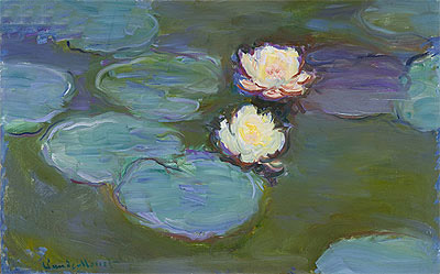 Monet | Water Lilies, c.1897/98 | Giclée Canvas Print