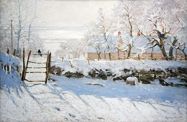 The Magpie, 1869   Monet   Painting Reproduction