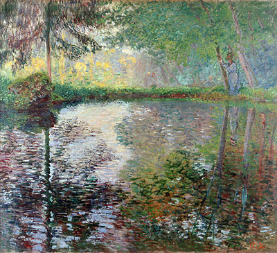 Pond at Montgeron, c.1876 | Monet | Painting Reproduction