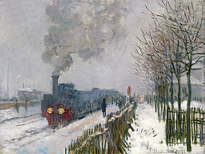 Train in the Snow (The Locomotive), 1875   Monet   Painting Reproduction