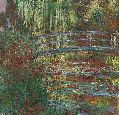 Monet | Monet's Water Garden and the Japanese Footbridge, 1900 | Giclée Canvas Print