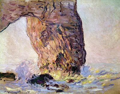 The Cliff at Etretat (La Manneporte), c.1883 | Monet | Painting Reproduction