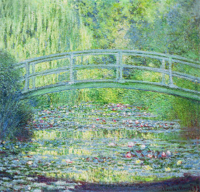 The Water Lily Pond with the Japanese Bridge, 1899   Monet   Painting Reproduction