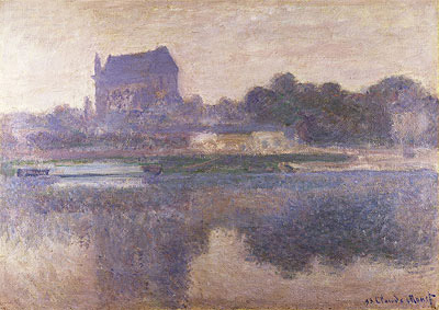 Vernon Church in Fog, 1893 | Monet | Painting Reproduction