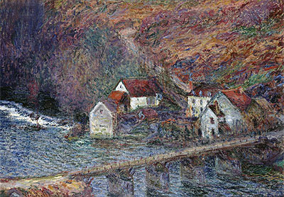The Bridge at Vervy, 1889 | Monet | Painting Reproduction