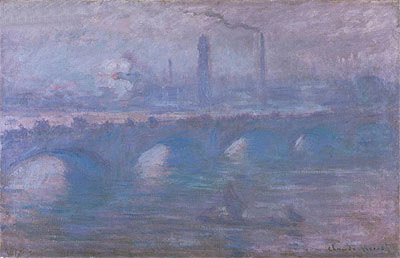 Waterloo Bridge, Morning Fog, 1901 | Monet | Painting Reproduction