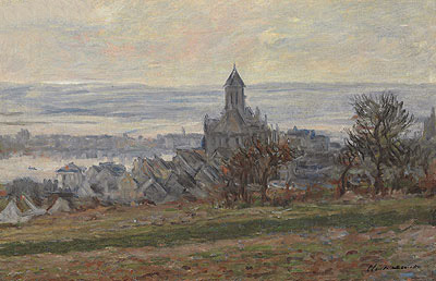 The Church at Vetheuil, 1881 | Monet | Painting Reproduction
