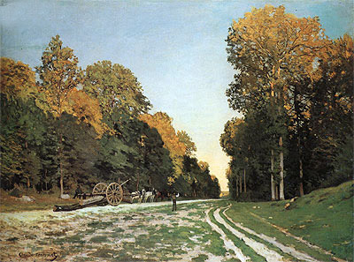 The Road from Chailly to Fontainebleau, c.1864/65 | Monet | Painting Reproduction
