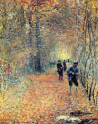 The Hunt, 1876   Monet   Painting Reproduction