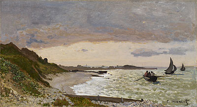 The Seashore at Sainte-Adresse, 1864 | Monet | Painting Reproduction