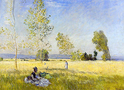 Monet | Meadow at Bezons, 1874 | Giclée Canvas Print