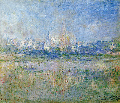 Vetheuil in the Mist, 1879 | Monet | Painting Reproduction
