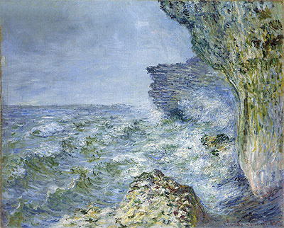 The Sea at Fecamp, 1881 | Monet | Painting Reproduction