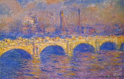 Waterloo Bridge, Sunlight Effect, 1903 | Monet | Painting Reproduction