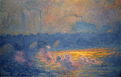 Waterloo Bridge, Sun Effect with Smoke, 1903 | Monet | Painting Reproduction