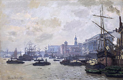 The Thames at London, 1871   Monet   Painting Reproduction