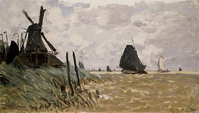A Mill near Zaandam, 1871 | Monet | Painting Reproduction