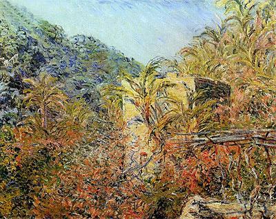 Vallee de Sasso, Sunshine, 1884 | Monet | Painting Reproduction