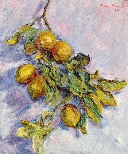 Lemons on a Branch, 1884 | Monet | Painting Reproduction