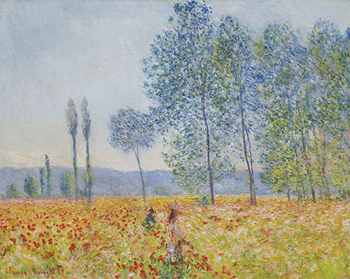 Under the Poplars, 1887 | Monet | Painting Reproduction