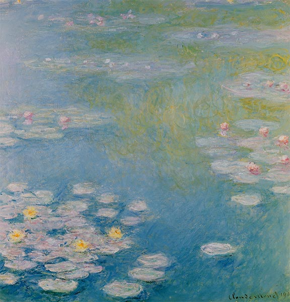 Nympheas at Giverny, 1908 | Monet | Painting Reproduction