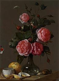 Floral Still Life, c.1670/90 by Cornelis de Heem | Giclée Canvas Print