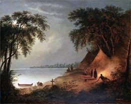 Cornelius Krieghoff | Indian Burial | Giclée Canvas Print