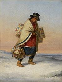 Cornelius Krieghoff | The Basket Seller | Giclée Canvas Print