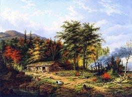 Cornelius Krieghoff | Clearing Land near the St. Maurice River | Giclée Canvas Print