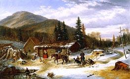 Bringing in the Deer, c.1859 by Cornelius Krieghoff | Giclée Canvas Print