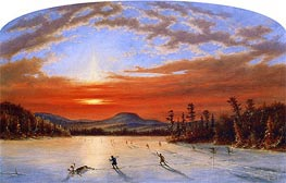 Cornelius Krieghoff | On Lake Laurent | Giclée Canvas Print