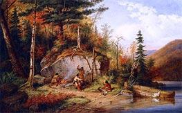 Cornelius Krieghoff | Canadian Autumn, View on the Road to Lake St. John | Giclée Canvas Print