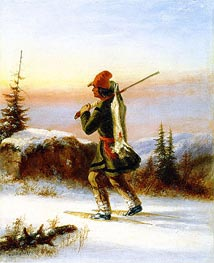 The Trapper, c.1855 by Cornelius Krieghoff | Giclée Canvas Print