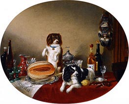 The Pets and the Materials, 1860 by Cornelius Krieghoff | Giclée Canvas Print