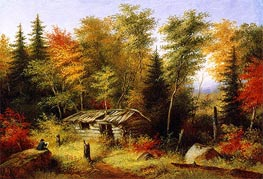 Cornelius Krieghoff | The Artist Painting | Giclée Canvas Print