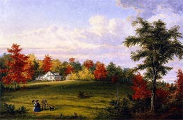 Cornelius Krieghoff | The Country House of Capt. John Walker, near Quebec | Giclée Canvas Print