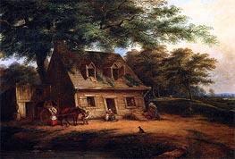 Cornelius Krieghoff | Cottage, St. Anne, c.1850 | Giclée Canvas Print