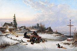 Cornelius Krieghoff | A Hazard of the Road, 1857 | Giclée Canvas Print