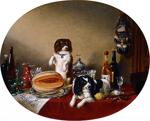 The Pets and the Materials, 1860 | Cornelius Krieghoff | Painting Reproduction