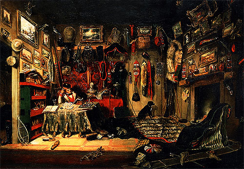 An Officer's Room in Montreal, 1846   Cornelius Krieghoff   Painting Reproduction