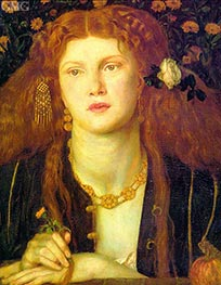 Rossetti | Bocca Baciata (The Kissed Mouth), 1859 | Giclée Canvas Print