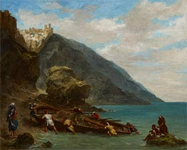 View of Tangier from the Seashore, c.1856/58 by Eugène Delacroix | Giclée Canvas Print